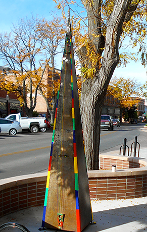 Logarythm by Joe Burleigh was part of the Carbondale Art Around Town