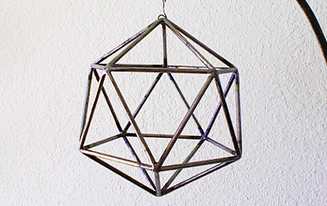 geometric sculpture of triangles